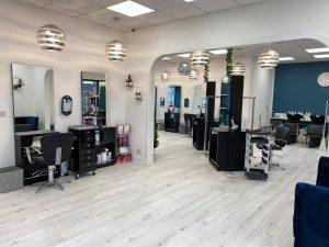 front of salon